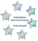 Zahlenballon Happy Birthday Stern FREIE AUSWAHL Folienballon Geburtstag