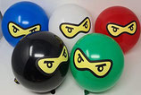 25 Ninja Luftballons 5 Farben Bio Ballons Made in Europe