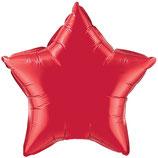 Folienballon Stern rot Ballon Heliumballon, 45cm Durchmesser