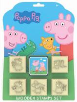 Peppa Pig 5 Stempel  + 1 Stempelkissen