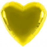 Folienballon Herz gold Ballon Heliumballon, 45cm Durchmesser