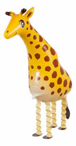 Folienballon Airwalker Ballon Giraffe