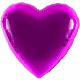 Folienballon Herz lila Ballon Heliumballon, 45cm Durchmesser