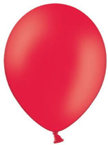 25 Luftballons rot Qualitätsware Ø ca. 27cm B85 (Standardgröße)