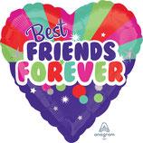 """Folienballon Herz """"Best Friends forever""""  Ballon Heliumballon, 43cm Durchmesser"""
