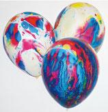25 Luftballons marmoriert Qualitätsware Ø ca. 33cm