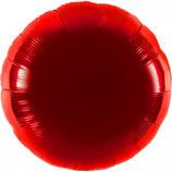 Folienballon Rund rot Ballon Heliumballon, 45cm Durchmesser