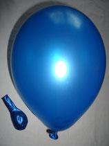100 Luftballons metallic blau Qualitätsware Ø ca. 27cm B85 (Standardgröße)
