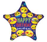 Geburtstag, Happy Birthday, Folienballon, Stern, heliumgeignet