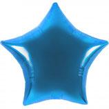 Folienballon Stern blau Ballon Heliumballon, 45cm Durchmesser