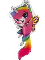 Folienballon rainbow butterfly unicorn kitty ca. 100cm