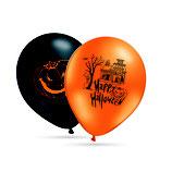 """Halloween Luftballons, 8 große Ballons 2 Motive mit 2-seitigem Druck, 30cm Durchmesser, 12"""" heliumgeignet"""
