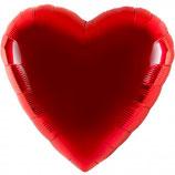 Folienballon Herz rot Ballon Heliumballon, 45cm Durchmesser