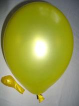100 Luftballons metallic gelb Qualitätsware Ø ca. 27cm B85 (Standardgröße)