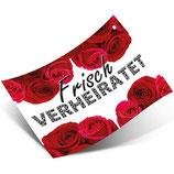 "50 Ballonflugkarten Weitflug ""Frisch verheiratet"" beidseitig Bedruckt"
