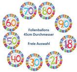 Zahlenballon Happy Birthday FREIE AUSWAHL Folienballon Geburtstag