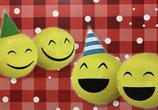 "50 Ballonflugkarten Weitflug ""Smileys"" beidseitig bedruckt"