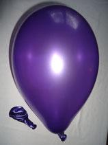 50 Luftballons metallic violett Qualitätsware Ø ca. 27cm B85 (Standardgröße)