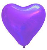 25 große Herzballons lila Luft und Ballongas geeignet