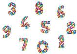 Riesiger Zahlenballon bunt 1m FREIE AUSWAHL Folienballon Helium Geburtstag