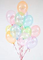 50 XL Seifenblasen Luftballons kristall, Premiumqualität Ø ca. 33cm, Kein Plastik