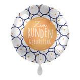 "Folienballon  ""Zum runden Geburtstag""  Ballon Heliumballon, 43cm Durchmesser"