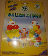 Ballon Clown, ca. 1,60m hoch, Komplett Set zum zusammen bauen