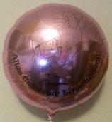 Folienballon Einschulung / Schulanfang Mädchen 45cm