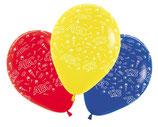 """5 bunte Luftballons """"Einschulung"""" Luft + Ballongas geeignet, 30 cm Ø Schulanfang"""