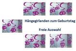 Deckengirlande Geburtstag FREIE AUSWAHL Deko Partydekoration