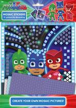 PJ Masks Mosaiksticker inkl. Sticker + 2 Bilder zum gestalten, alle Pyjamahelden dabei Gecko, Eulette, Catboy