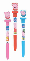 Stift 3 in 1  Peppa Pig Stift mit Stempel und Seifenblasenaufsatz