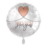 """Folienballon  """"Herzensmensch""""  Ballon Heliumballon, 43cm Durchmesser"""