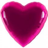 Folienballon Herz pink Ballon Heliumballon, 45cm Durchmesser