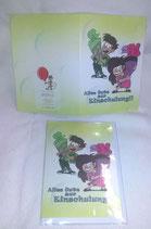 Glückwunschkarte Einschulung Schulanfang neutrale Doppelkarte