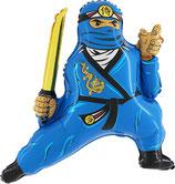 Folienballon Ninja blau