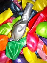 100 Luftballons metallic bunt Qualitätsware Ø ca. 27cm B85 (Standardgröße)