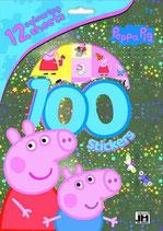 100 tolle Aufkleber / Sticker Peppa Pig inkl. 12 Malvorlagen
