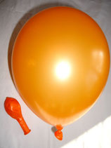 25 Luftballons metallic orange Qualitätsware Ø ca. 27cm B85 (Standardgröße)