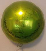 Folienballon Einschulung / Schulanfang Junge grün 45cm