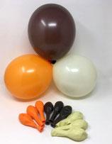 100 Bio Luftballons 3 Farben vanille braun orange Qualitätsballons 27 cm Ø (Standardgröße B85)