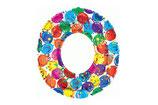 Zahl 0 Riesiger Zahlenballon bunt 1m Folienballon Helium Geburtstag