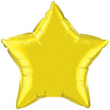 Folienballon Stern gold Ballon Heliumballon, 45cm Durchmesser