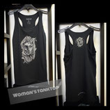 Skull-Logo Tank Top with T-Shaped