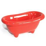 Rote Badewanne