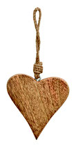 Holz Mango Herz