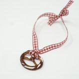 Brezelarmband zum Binden rot