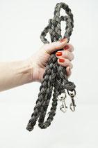 Paracordleine & Halsband schwarz