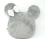 Kuschelpolster Mini Maus grau