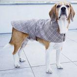 Hundemantel Karo grau